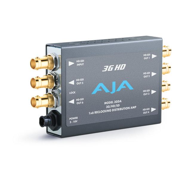 AJA AJA 3GDA 1x6 3G/HD/SD Reclocking Distribution Amplifier