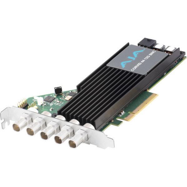 AJA AJA Corvid-44-T-12G SDI PCIe 4 Ch I/O, Tall bracket, with Fan, HDBNC