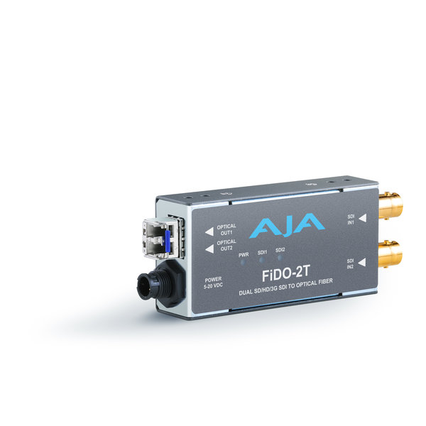 AJA AJA FIDO-2T Dual ch. SD/HD/3G SDI to fiber + loop out