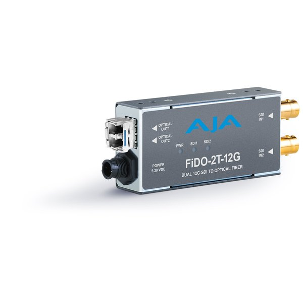 AJA AJA FIDO-2T-12G Dual ch. SD/HD/12G SDI to fiber + loop out