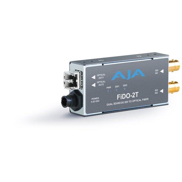 AJA AJA FIDO-2T-MM Dual ch. SD/HD/3G SDI to fiber MM + loop SDI out