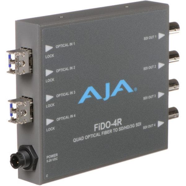 AJA AJA FIDO-4R 4-Channel LC fiber to 3G-SDI