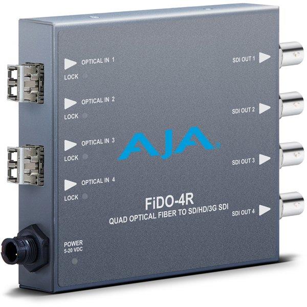 AJA AJA FIDO-4R-MM 4-Channel LC fiber MM to 3G-SDI
