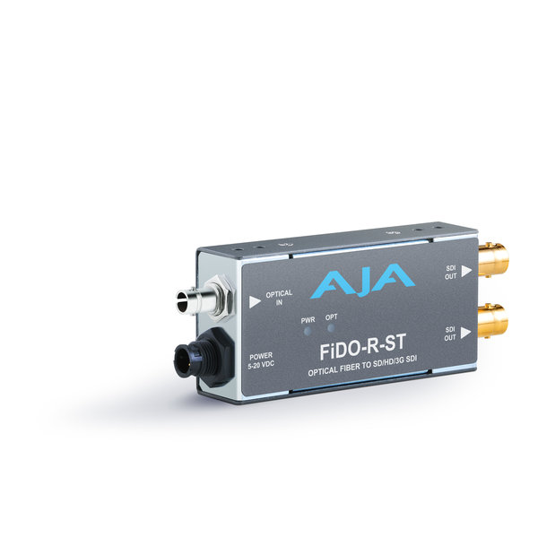 AJA AJA FIDO-R-ST Single ch. fiber (ST) to SD/HD/3G SDI dual out