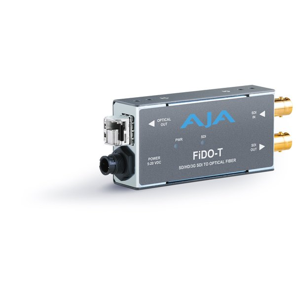 AJA AJA FIDO-T-MM Single ch. SD/HD/3G SDI to fiber MM + loop SDI out