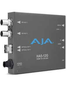 AJA AJA Ha5-12G-T HDMI 2.0 to 12G-SDI conversion & fiber transmitter