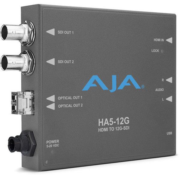 AJA AJA Ha5-12G-T HDMI 2.0 to 12G-SDI conversion & fiber transmitter