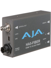 AJA AJA HA5-FIBER HDMI to ST fiber, 3G/HD/SD over fiber protocol