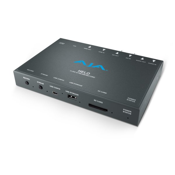 AJA AJA HELO H.264 HD/SD recorder and streaming, 3G-SDI/HDMI, input/out, SD,USB or network recording