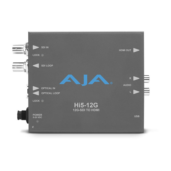 AJA AJA Hi5-12G-TR / 12G-SDI to HDMI 2.0 Conversion with Fiber transceiver