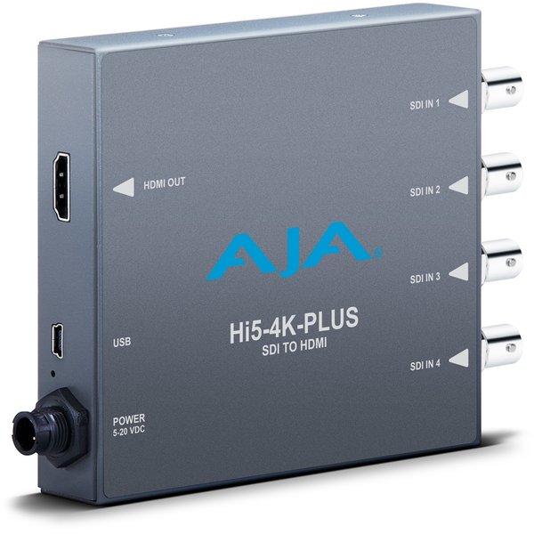 AJA AJA Hi5-4K-plus / 4K/UHD SDI to 4K/UHD HDMI 2.0 with 50/60P support, also HD-SDI