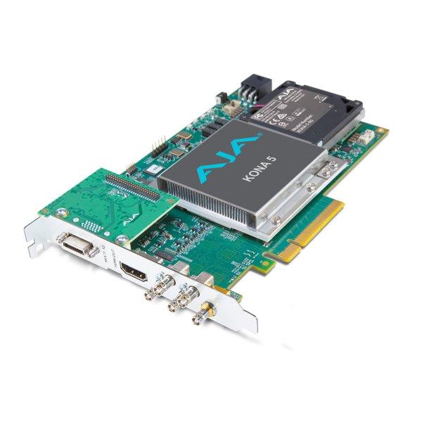 AJA AJA Kona-5 / 12G-SDI I/O, 10-bit PCIe card, HDMI2.0 out with HFR support (ATX Power)