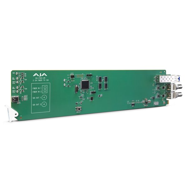 AJA AJA OG-FIDO-2R / 2-ch. single mode LC-fiber to 3G-SDI receiver