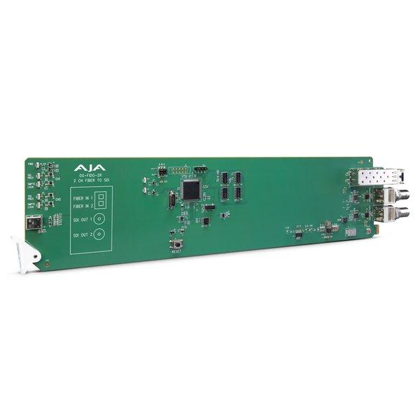 AJA AJA OG-FIDO-2R-MM / 2-ch. MM LC-fiber to 3G-SDI receiver