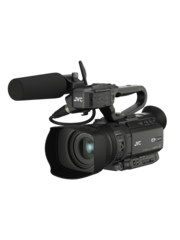 JVC JVC GY-HM250E Compact live streaming 4K camcorder with SDI and broadcast overlay