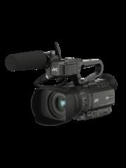 JVC JVC GY-HM250ESB Compacte live streaming 4K camcorder met SDI en grafische broadcast/sport overlays