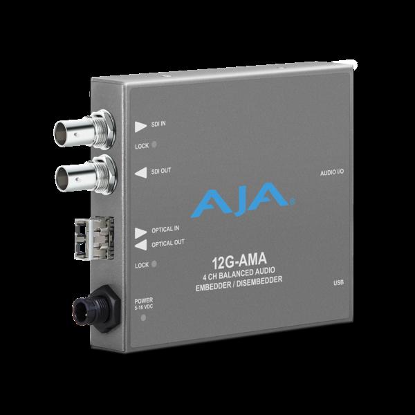 AJA AJA 12G AMA 4-Ch Emb/Disemb with Fiber Options