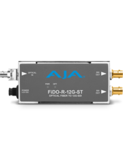 AJA AJA FIDO-R-12G  ST Single ch. fiber to SD/HD/12G SDI dual out