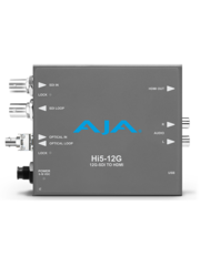 AJA AJA Hi5-12G-R -ST / 12G-SDI to HDMI 2.0 Conversion with ST Fiber receiver
