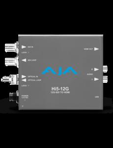 AJA AJA Hi5-12G-R -ST / 12G-SDI to HDMI 2.0 Conversion with ST Fiber receiver