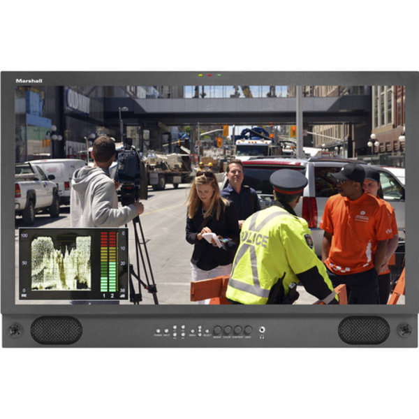 """Marshall Marshall V-LCD241MD-3G 24"""" LCD Desk rack mount with HDMI and 3G Input"""