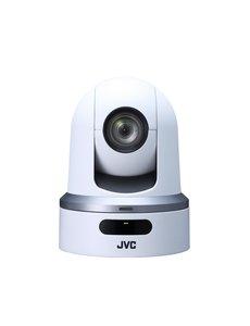 JVC JVC KY-PZ100WEBC PTZ IP productie camera (wit) met graphische overlay