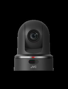 JVC JVC KY-PZ100BEBC PTZ IP productie camera (zwart) met graphische overlays