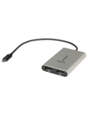 Sonnet Sonnet Thunderbolt 3 to Dual DisplayPort Adapter - Supports two 4K Displays