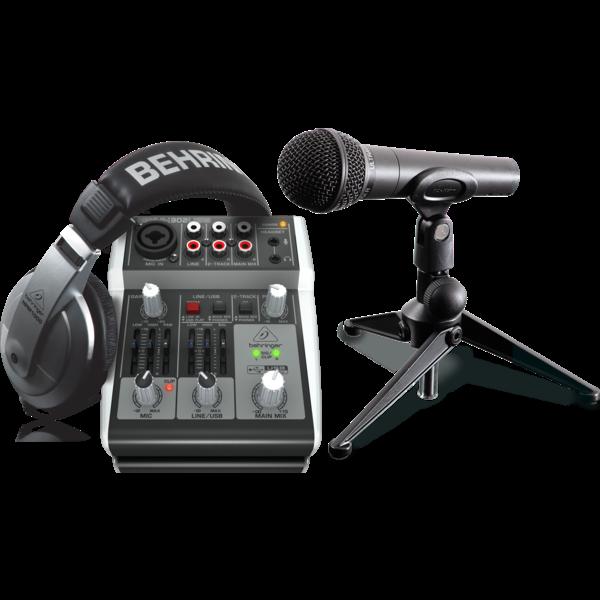 Behringer Behringer PODCASTUDIO Bundle with USB Mixer, Microphone, Headphones