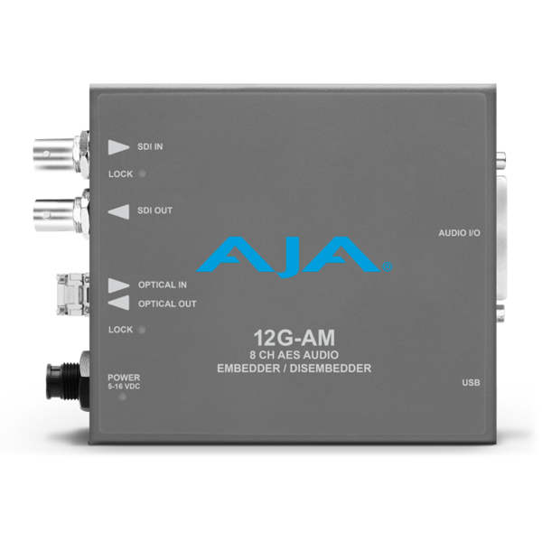 AJA AJA 12G-AM-R Embedder/Disembedder with single LC fiber receiver