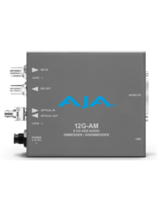 AJA AJA 12G-AM-R-ST Embedder/Disembedder with single ST fiber receiver