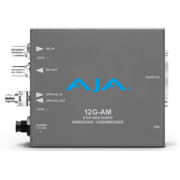 AJA AJA 12G-AM-R-ST Embedder/Disembedder with single ST fiber receiver