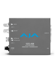AJA AJA 12G-AM-T Embedder/Disembedder with single LC fiber transmitter