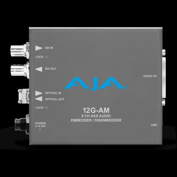 AJA AJA 12G-AM-T Embedder/Disembedder with single LC fiber transmitter