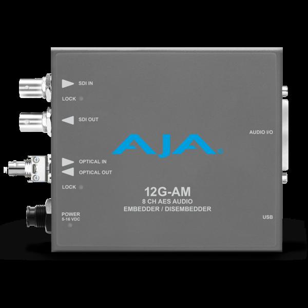 AJA AJA 12G-AM-T-ST Embedder/Disembedder with single ST fiber transmitter