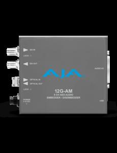 AJA AJA 12G-AM-TR Embedder/Disembedder with single LC fiber transceiver