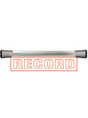Sonifex Sonifex LD-40F1REC LED Single Flush Mounting 40cm RECORD sign