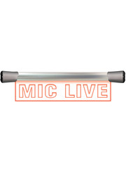 Sonifex Sonifex LD-40F1MCL LED Single Flush Mounting 40cm MIC LIVE sign