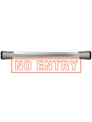 Sonifex Sonifex LD-40F1NOE LED Single Flush Mounting 40cm NO ENTRY sign