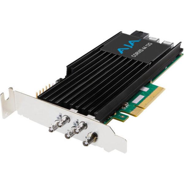 AJA AJA Corvid-44-12G-FL-BNC 12G-SDI PCIe, 4Ch I/O, Short bracket, no Fan, HDBNC