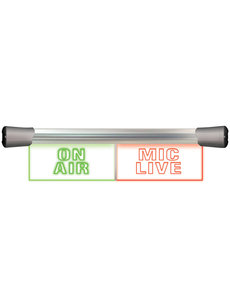 Sonifex Sonifex LD-40F2ONA-MCL LED Twin Flush  2 x 20cm ON AIR & MIC LIVE sign