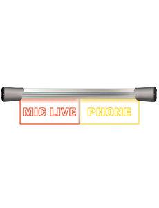 Sonifex Sonifex LD-40F2MCL-PHN LED Twin Flush  2 x 20cm MIC LIVE & PHONE sign