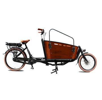 Vogue cargo carry 2  zwart/bruin 2021 Elektrische bakfiets