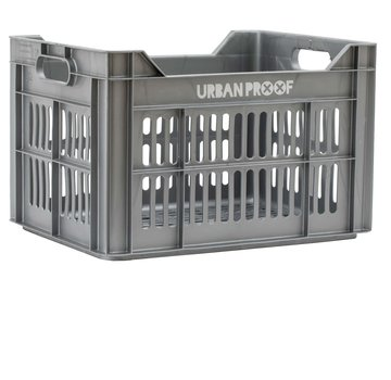Urban Proof up fietskrat 30l zilver kratten