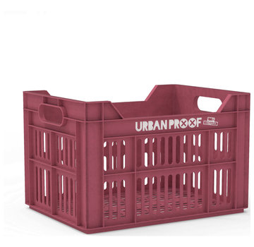 Urban Proof up fietskrat 30l warm pink - recycled kratten