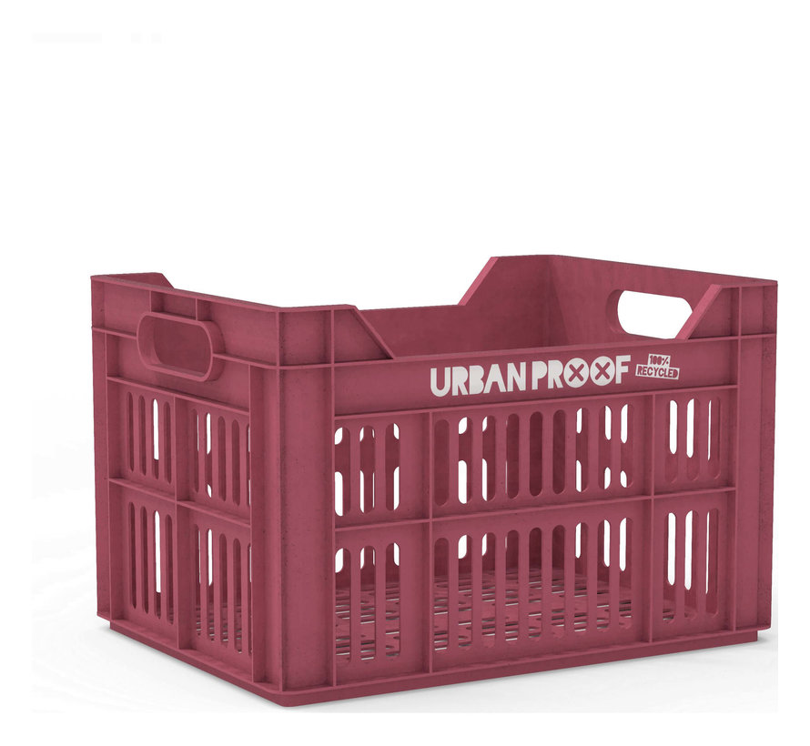 up fietskrat 30l warm pink - recycled kratten