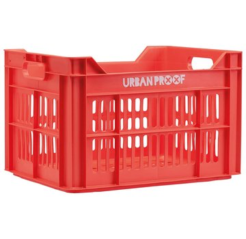 Urban Proof up fietskrat 30l lobster rood kratten