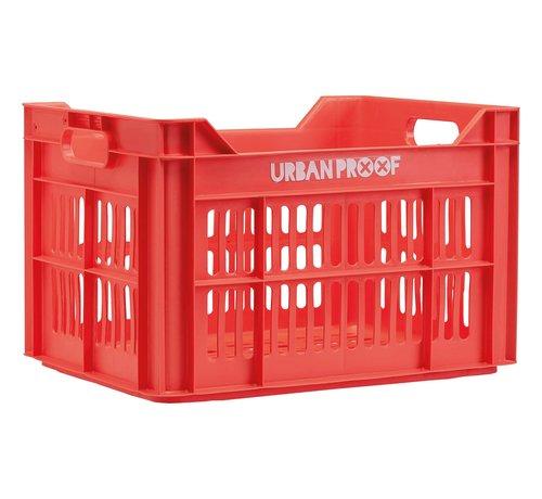 Urban Proof up fietskrat 30l lobster rood kratten