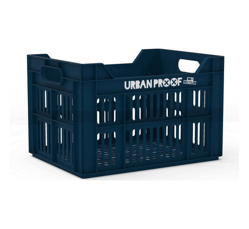 Urban Proof fietskrat 30l dark blue - recycled kratten