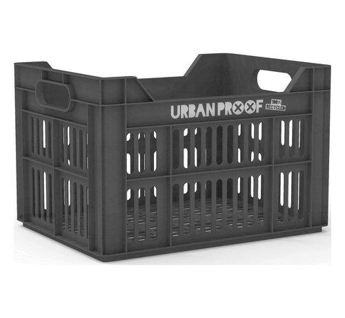 Urban Proof fietskrat 30l ash grey - recycled kratten